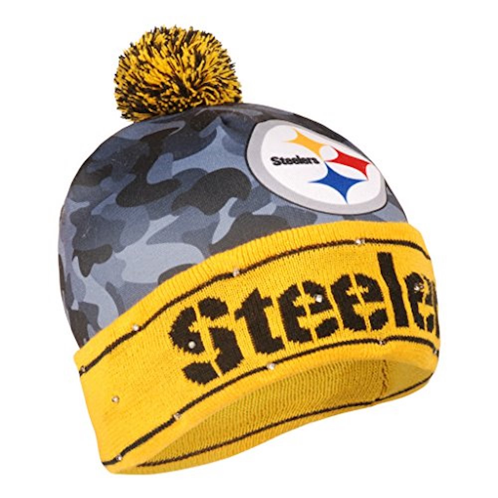premium selection 05dbf a1bb0 Details about Pittsburgh Steelers Battery Powered Light Up Beanie Knit Hat